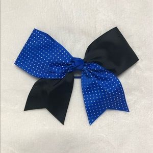 Blue and Black Cheer Bow